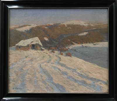 Josef Písecký (Liška) - Zasněžená krajina