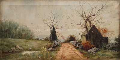 Autor neurčen - Podzimní krajina