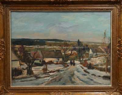 Karel Jan Sigmund - Zimní krajina ze Železných hor