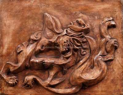 Emil Filla - Héraklés bojující s nemejským lvem