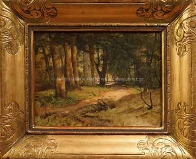 Julius Mařák - Lesní pěšina
