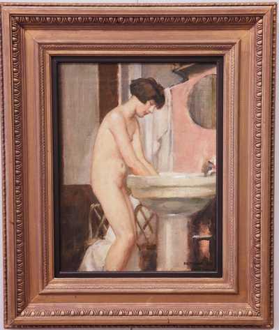 Hugo Boettinger - V koupelně