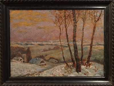 Karel Beneš - Chalupy v zimě