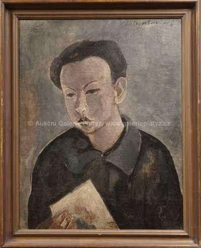 Andrej Bělocvětov - Chlapec s papírem