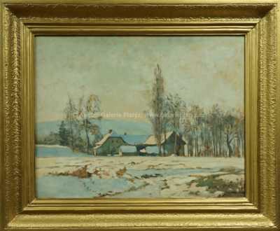 Jaromír Kunc - Mlýn v zimě