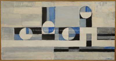 Josef Kadula - Abstrakce v modrém