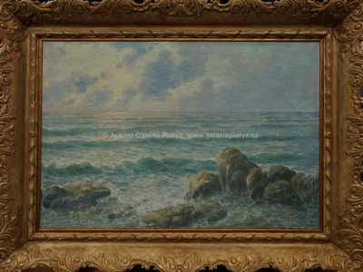 Emil Friedrich Neumann - Západ slunce nad mořem