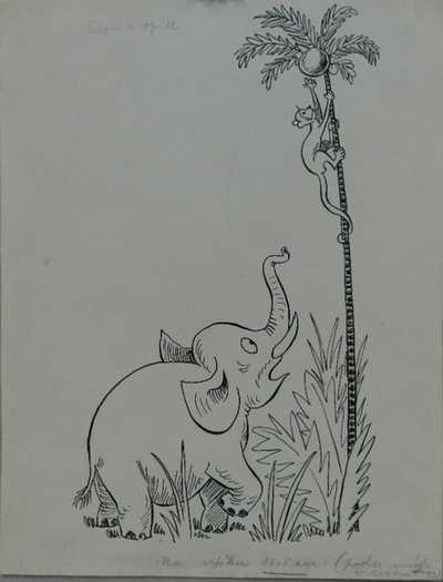Ondřej  Sekora - Slon a opice