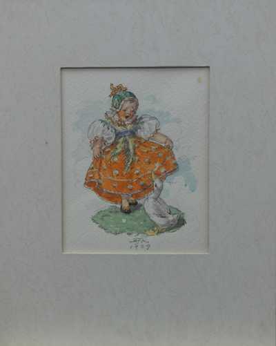 Marie Fischerová – Kvěchová - Červená sukénka