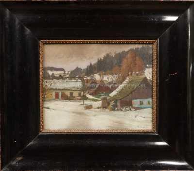 Bohuslav Dvořák - Vesnička v zimě