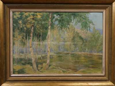 Jindřich Fürst - Břízy u rybníka