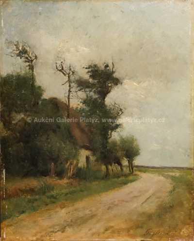 Julien Gustave Gagliardini - Dům u cesty