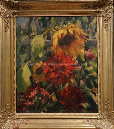 Josef Arnet - Květiny v zahrádce