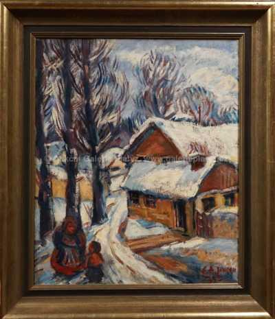 Emil Artur Pitterman - Longen - Zimní procházka