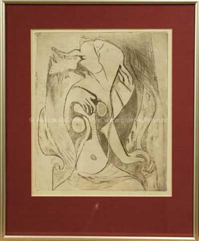 Emil Filla - Žena s ptáčkem