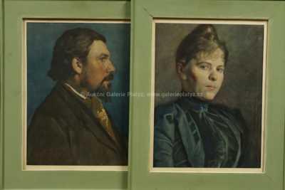 Ludvík Kuba - Portrét muže a Portrét ženy