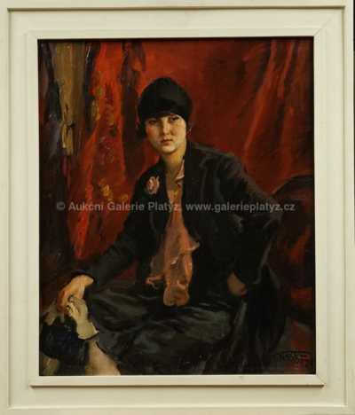 František Xaver Naske - Dáma v černém hedvábí