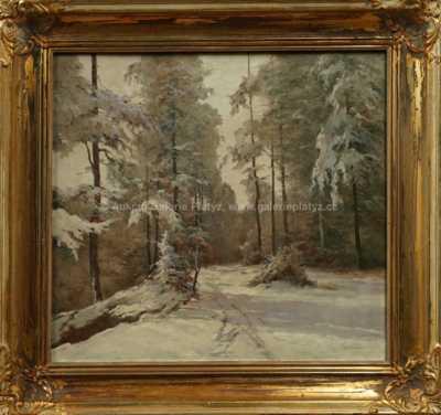 František M. Skula - Zimní les