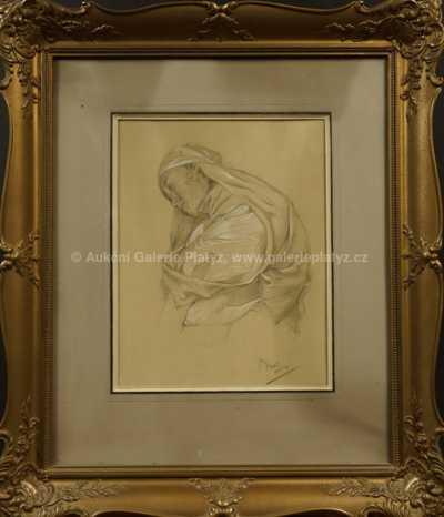 Alfons Mucha - Dívka v plachetce