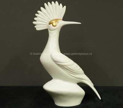 Porcelán - Socha ptáka