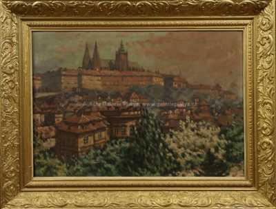 Jar. Procházka - Pohled na Pražský hrad