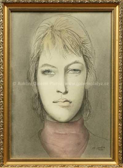 Ota Janeček - Portrét dívky