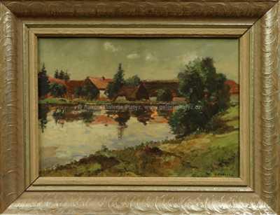 Nad rybníkem v Horním Poli