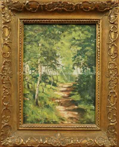 Autor neurčen - Lesní pěšina