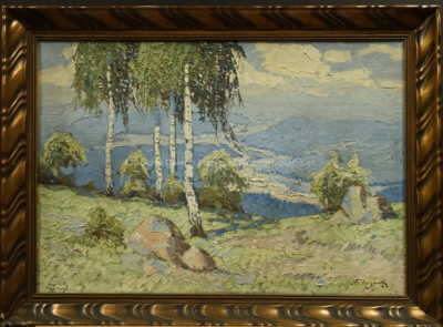 Antonín  Augusta - Břízy nad údolím
