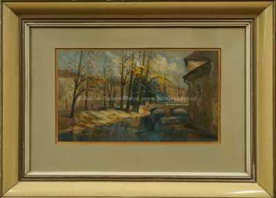 Karel Hodr - Podzim na řece