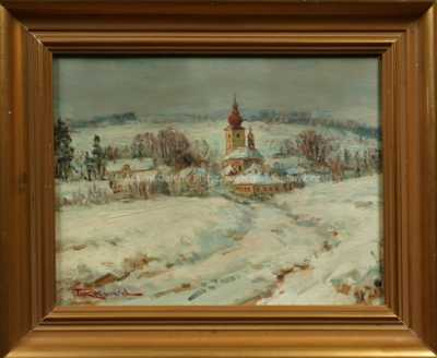 Ferdinand Kotvald - Vesnice pod sněhem