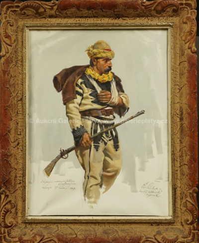 Otakar Číla - Raněný albánský bojovník