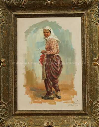 Otakar Číla - Albánská žena