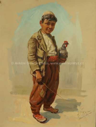 Otakar Číla - Albánský chlapec