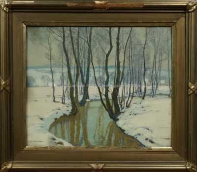 Alois Kalvoda - Potok v zimě