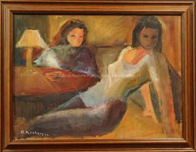 Oldřich Kerhart - Dívky u stolu