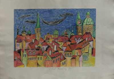 Karel Chaba  - Pražské střechy