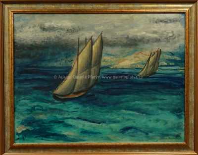 Oldřich Kerhart - Plachetnice ve větru