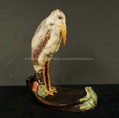 Porcelán - Marabu a žába