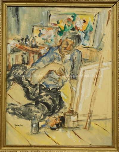 Július Jakoby - Autoportrét