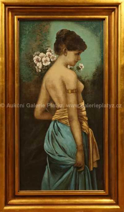 Neznačeno - Dívka s květinami