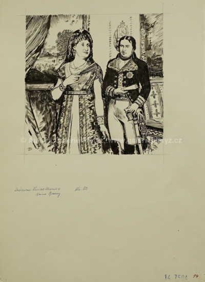Zdeněk Burian - Královna Luisa Marie a princ Godoy