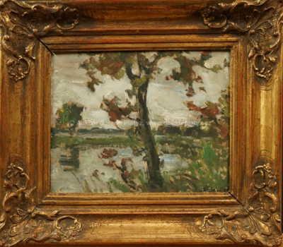 František Líbal - Stromy u rybníka