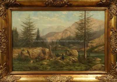 F. J. Dyck - U alpského jezera