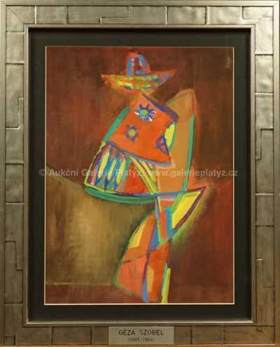 Géza Szóbel - Kubistická postava