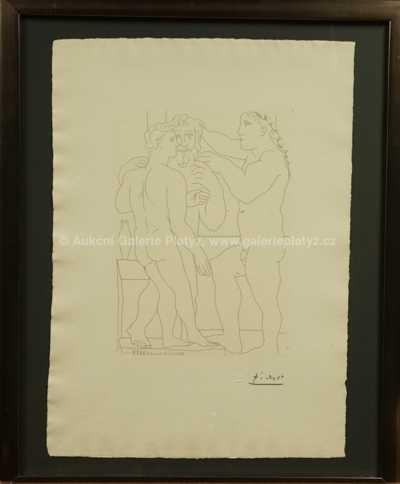 Pablo Picasso - Deux Hommes scupltés