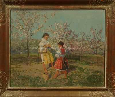 Josef Konečný - Děvčata v rozkvetlém sadu