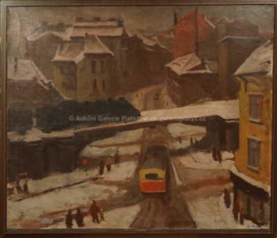 Ladislav Šíma - Město v zimě