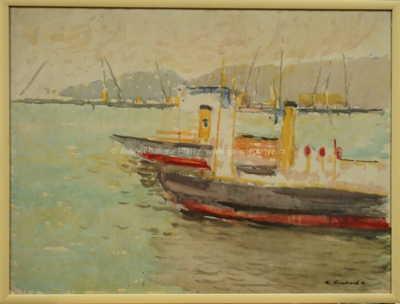 Kamil Linhart - Řecko lodě u přístavu
