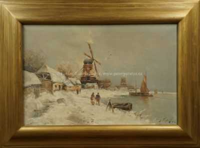 Autor neurčen - Holandsko v zimě